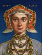 "Anne of Cleves traveled to England and Henry VIII rushed to meet his young bride. According to Henry, the Holbein portrait had been over-complimentary to Anne - Holbein had reflected her sweet nature in the portrait but Anne of Cleves was not what Henry expected. ""I like her not!"" he told everyone... King Henry could not get out of the marriage contract and the marriage ceremony went ahead."