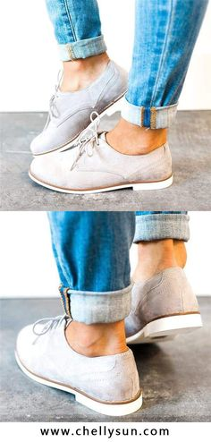 a38e68727f $21.98 Chellysun Low Heel Lace-up Daily Oxford Boots. Free Shipping! Shop  Now