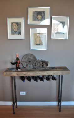 5ft. Industrial Reclaimed Wood Console Table/ by UrbanWoodGoods