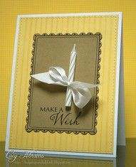 Birthday card....what a cute idea, and looks easy enough to do.