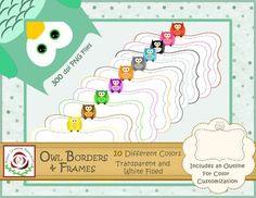 Borders and Frames: Owl Theme