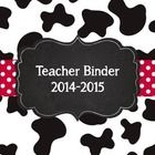 A lot going on, on this super cute binder!   Includes:   Cover 2014-2015  Attendance  Professional Development  IEPs & 504s  Parent Contacts  S...