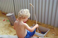Invitation to play: Sandpit Fishing