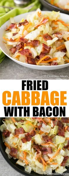 Fried Cabbage is a delightful vegetable dish that is warm, filling, and a nice change from green beans! It is cooked in very little oil, it's really easy to make, and it cooks quickly with very little of your attention -- just a few stirs!