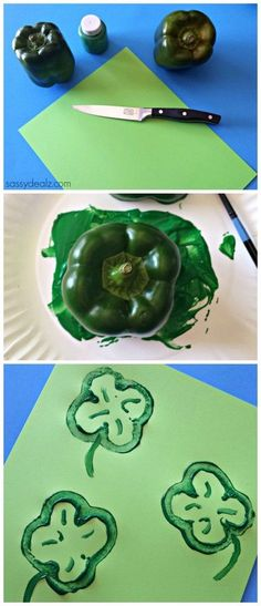 bell pepper shamrock stamp