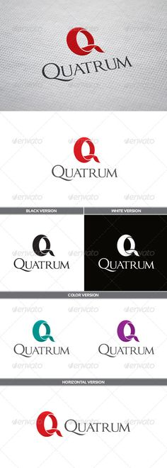 Quatrum Logo — Vector EPS #blue #letter Q • Available here → https://graphicriver.net/item/quatrum-logo/5779052?ref=pxcr