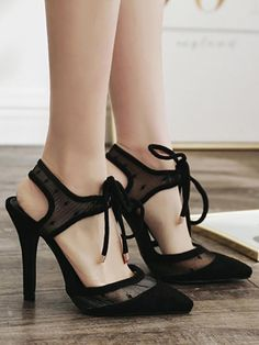 bf397605e58fe5 Fashion Pointed Hollow Slim High Heel Sandals
