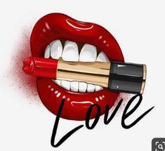 Lips Painting, Makeup Illustration, Afrique Art, Pop Art Wallpaper, Lipstick Art, Fashion Wall Art, Arte Pop, Red Aesthetic, Pretty Wallpapers