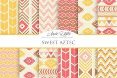 Sweet Aztec Digital Paper by AvenieDigital on Creative Market