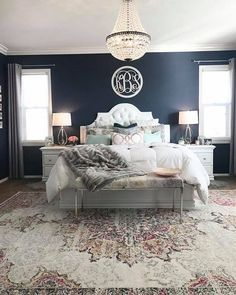 Paint color: Naval by Sherwin Williams! Such a good navy!