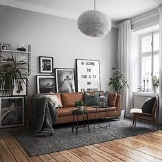 A stunning living room styled by @scandinavianhomes  @kronfoto  Vita Eos light shade available online. Our FREE UK delivery on all orders over £30 ends midnight tonight ✨ . #livingroom #livingroomdecor #nordichome #nordicinspiration