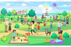 Kids play together on swings with kite, couples on benches and jogging, man with dog, women do yoga and read book English Worksheets For Kids, Worksheets For Grade 3, Lkg Worksheets, Hindi Worksheets, Nouns Worksheet, Pencil Illustration, Graphic Illustration, Picture Comprehension, Writing Comprehension
