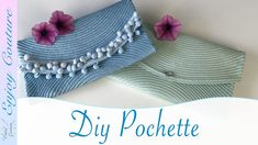 Couture Diy Pochette, Pochette Diy, Formation Couture, Couture Sewing, Diy And Crafts, Creations, Crochet Hats, Make It Yourself, Purses