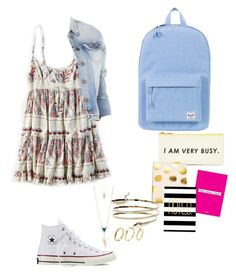 """Back to school pt 4 "" by yolaash on Polyvore featuring American Eagle Outfitters, Converse, Herschel Supply Co., Bando, Aéropostale, Pixie Grey and Boohoo"