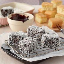 Light, fluffy chocolate dipped cakes rolled in coconut… a popular kiwi favourite. Dark Chocolate Frosting, Chocolate Dipped, Chocolate Cakes, Gluten Free Sponge Cake, Australian Food, Australian Recipes, Sponge Recipe, How To Make Icing, Baking Recipes