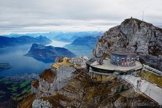 Mount Pilatus. Lucerne Switzerland. They actually have sun loungers at the top of the mountain so you can sun 'tan' in your winter coat :) Amazingly beautiful up at the top.