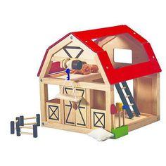 Plan Toys Boerderij schuur - Woody Wood Toys - Houten speelgoed vergelijken!