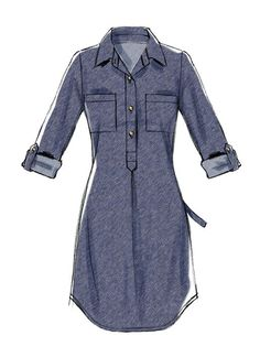 McCall pattern M6885 for flannel shirt dress