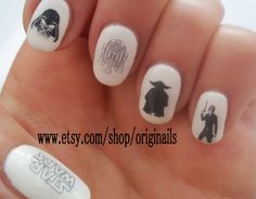 Star Wars nail - Super Cool! Wish I had this for my lady Han Solo costume!