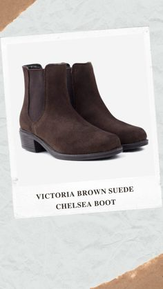 Victoria, women's Chelsea boots with premium water resistant suede uppers - An easy-to-wear year round staple, the Chelsea boot is a versatile addition to any wardrobe. Premium soft, taupe suede gives a classic look Water resistant suede uppers Double elastic gussets allow for easy entry Durable non slip rubber sole with a 3cm heel for subtle elevation Available in tan, brown and black Brown Suede Chelsea Boots, Easy Entry, Autumn Style, Classic Looks, Taupe, Autumn Fashion, Victoria, Heels, Water