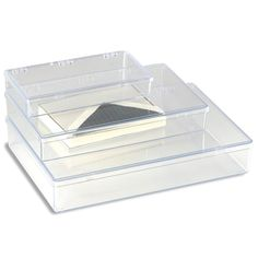 The Container Store > Clear Rectangular Hinged Boxes