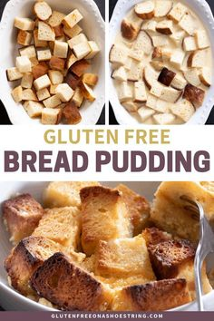 If you've ever wondered what to do with leftover gluten free bread, this easy recipe for gluten free bread pudding is the answer. You'll never waste another crumb! Keto Friendly Desserts, Low Carb Desserts, Gluten Free Desserts, Dessert Recipes, Glutenfree Bread, Gluten Free Lasagna, Dessert Sans Gluten, Foods To Avoid, Gluten Free Cookies