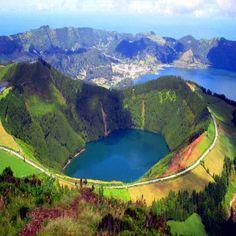 Lake of Fire, Sao Miguel Island, Azzore.