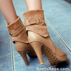 Fashion rhinestone platform high heel woman ankle boots - Women Boots And Booties
