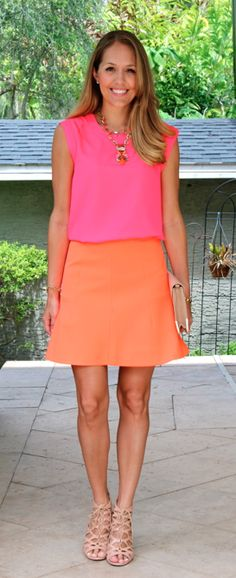 My favorite colors..Pink and orange - J's Everyday Fashion