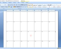 How to Create a Custom Calendar in Word - Calyx & Corolla Custom Calendar, Diy Calendar, Create A Calendar, Time Management, No Time For Me, Organization, Words, Purpose, Design