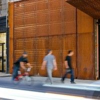 :: heart :: brilliant exterior detailing that also provided awnings for passing pedestriansAndre Kikoski Architect has designed a corten steel facade for the Wyckoff Exchange, a live music and performance venue in the Bushwick section of Brooklyn, New York.