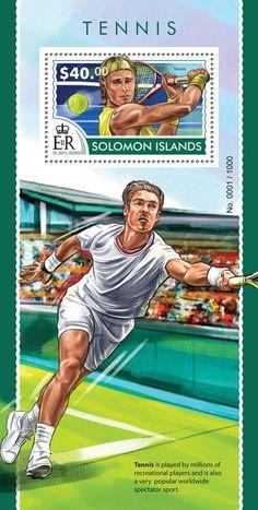 Post stamp Solomon Islands SLM 15316 bTennis