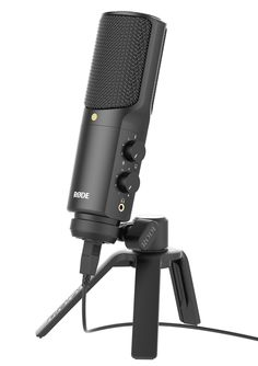 Rode NT-USB USB Condenser Microphone - Great Mic for Dragon Naturally Speaking Users