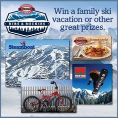 Travel Contests and Sweepstakes: Ribs & Rockies Steamboat Family Ski Vacation Sweepstakes (103113)