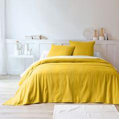 Jeté de lit tissé Moutarde: Vue 1
