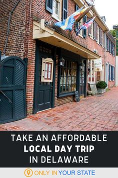 Take a budget-friendly local day trip to New Castle, Delaware. It's a short local road trip from anywhere in the state and offers beautiful parks, delicious food, and historic attractions and museums that the family will love. Dutch House, Road Trip Destinations, Beautiful Park, Delaware, Newcastle, Day Trip, Vacation Ideas, Road Trips, Travel Usa
