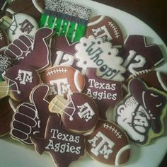 Texas Aggies Football cookies by Life's A Batch