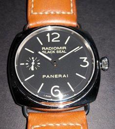 2cd15d1a4fe Details about Panerai Radiomir Black Seal 45mm Steel Black Sandwich Dial  PAM 183 NOS N Series