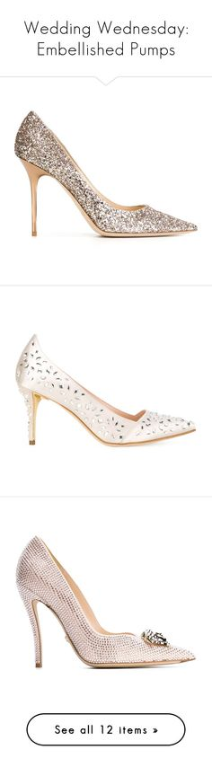 """""""Wedding Wednesday: Embellished Pumps"""" by polyvore-editorial ❤ liked on Polyvore featuring embellishedpumps, weddingwednesday, shoes, pumps, pink, stiletto pumps, pink pointy toe pumps, pink leather pumps, pink pointed toe pumps and pointy-toe pumps"""