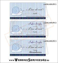 Place Card – Plic de Bani, Meniu, Nr. Masa | Model IG059 - cu Melc