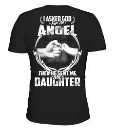 My Daughter - Angel of Dad   daughter shirt, daughter gift ideas, mother daughter shirts #daughter #giftfordaughter #family #hoodie #ideas #image #photo #shirt #tshirt #sweatshirt #tee #gift #perfectgift #birthday #Christmas