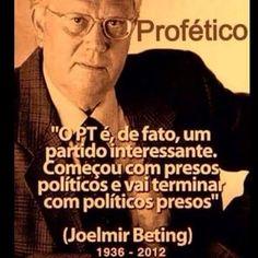 """Não precisava do Joelmir... a luta deles sempre foi óbvia...lutaram muito tempo, se organizaram, montaram uma """"sociedade"""" com este objetivo... só não via quem não queria...e vamos lembrar, objetivo de 1964 não era lutar contra a ditadura militar e sim instalar uma DITADURA DO PROLETARIADO do Brasil....quem disse ou inventou não fui eu, foram os próprios participantes, e depois dos verdadeiros objetivos conquistados ,dissidentes. Vale lembrar também, que a maioria dos fundadores deste partido…"""