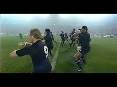 The Haka being performed by the New Zealand All Blacks rugby team is an old Maori pre-war battle prayer.