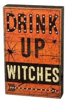 Primitives by Kathy 'Drink Up Witches' LED Box Sign | Nordstrom