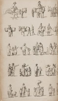 """Dames a la Mode: William Pyne's """"Rustic Figures"""" in Ackermann's Repository"""