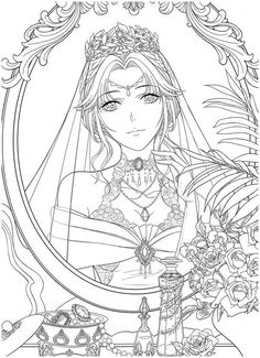 Wedding Coloring Pages, Colouring Pages, Adult Coloring Pages, Coloring Books, Floral Wedding, Wedding Colors, Gus G, Anime Poses Reference, Color Pencil Art