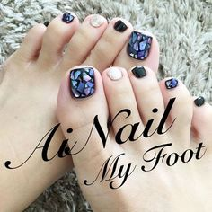 No photo description available. Cute Toe Nails, Cute Acrylic Nails, Cute Nail Art, Love Nails, Feet Nail Design, Toe Nail Designs, Pedicure Designs, Fingernails Painted, Nail Polish Style