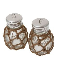 Another great find on #zulily! Nautical Rope Salt & Pepper Shaker Set #zulilyfinds