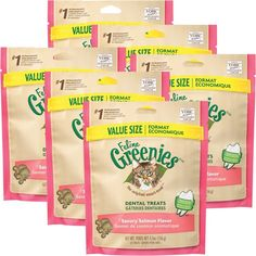 6PACK Greenies Feline SALMON (2.2 lbs) -- You can find more details by visiting the image link.