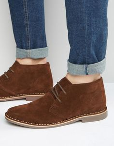 Find the best selection of Red Tape Desert Boots Brown Suede. Shop today with free delivery and returns (Ts&Cs apply) with ASOS! Trendy Mens Shoes, Mens Casual Leather Shoes, Mens Fashion Shoes, Casual Boots, Leather Outfits, Real Leather, Trendy Outfits, Leather Boots, Summer Outfits
